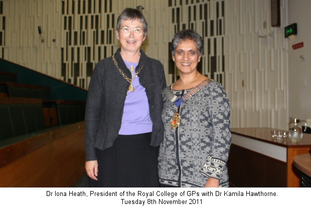 Dr Iona Heath and Dr Kamila Hawthorne