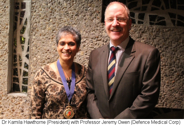 Dr Kamila Hawthorne with Professor Jeremy Owen